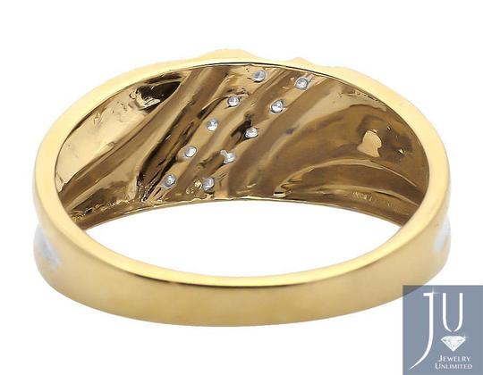 Jewelry Unlimited Two Diagonal Rows Genuine Diamond Wedding Band Ring 0.12ct. Image 1