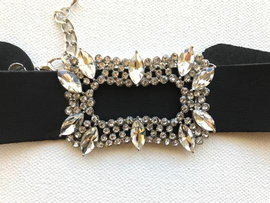 Other Jewel Studded Faux Leather Choker