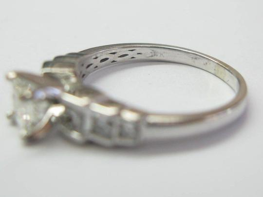Other Fine 14Kt Princess Cut Diamond Engagement Step Ring WG 1.15Ct