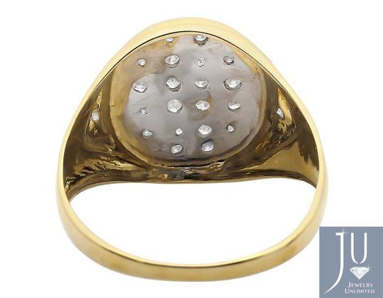 Jewelry Unlimited Mens Solid Oval Shape Top Genuine Diamond Pinky Ring 0.25ct Image 1