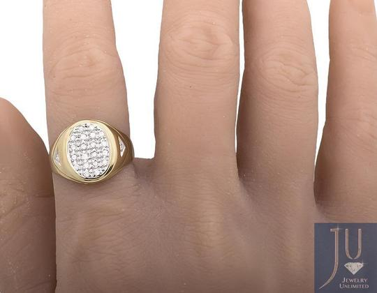 Jewelry Unlimited Mens Solid Oval Shape Top Genuine Diamond Pinky Ring 0.25ct Image 2