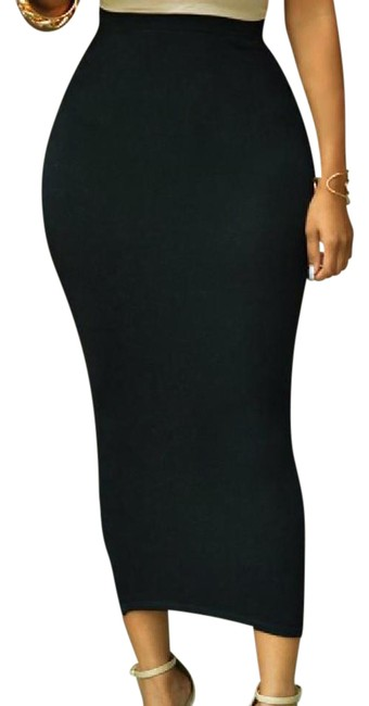 Preload https://item4.tradesy.com/images/black-womens-sexy-tube-pencil-waisted-stretch-bodycon-midi-skirt-size-8-m-29-30-21070658-0-1.jpg?width=400&height=650