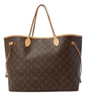 Louis Vuitton Gm Neverfull Vuitton Tote in Brown