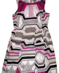 Robbie Bee short dress white pink and grey on Tradesy