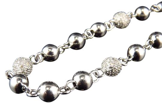 Preload https://item1.tradesy.com/images/white-gold-finish-627mm-wide-real-diamond-bead-balls-32-chain-310ct-necklace-21070725-0-1.jpg?width=440&height=440