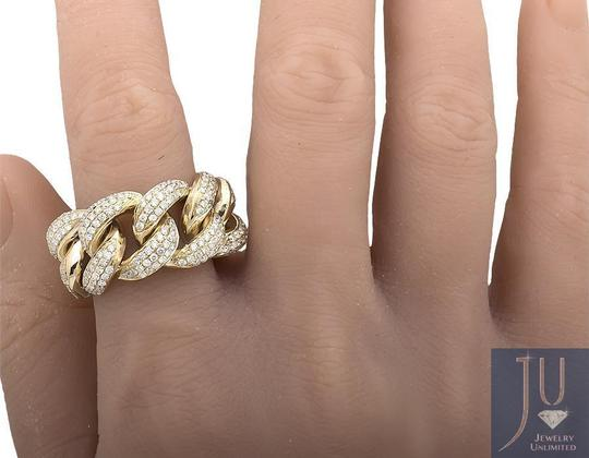 Jewelry Unlimited Miami Cuban Link Style Genuine VS Diamond Statement Ring 2.75ct Image 2
