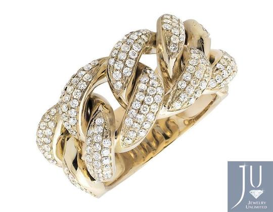 Jewelry Unlimited Miami Cuban Link Style Genuine VS Diamond Statement Ring 2.75ct Image 3