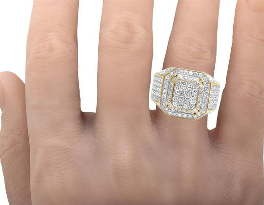 Jewelry Unlimited 10K Yellow Gold Real Diamond 3D Square Wedding Ring 4.60CT Image 1