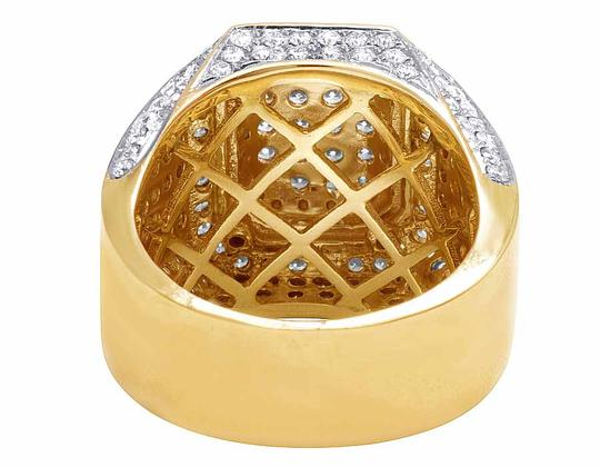 Jewelry Unlimited 10K Yellow Gold Real Diamond 3D Square Wedding Ring 4.60CT Image 2
