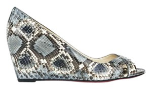 Christian Louboutin Python Snakeskin Red Bottoms Red Sole Wedges