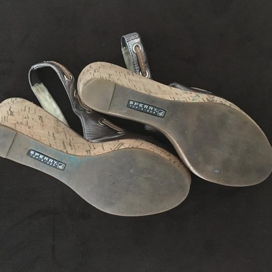 Sperry Pewter Wedges Image 2