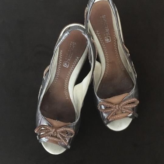 Sperry Pewter Wedges Image 3