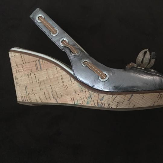Sperry Pewter Wedges Image 4