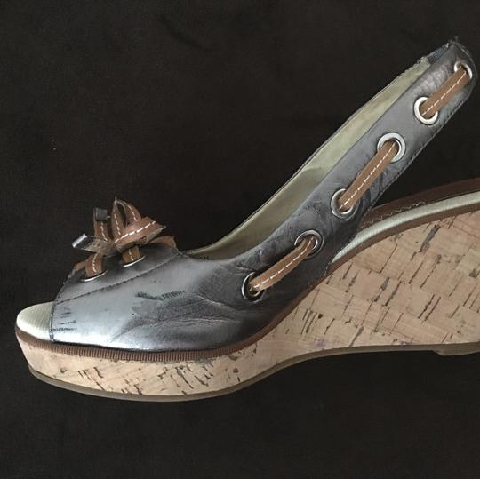 Sperry Pewter Wedges Image 5