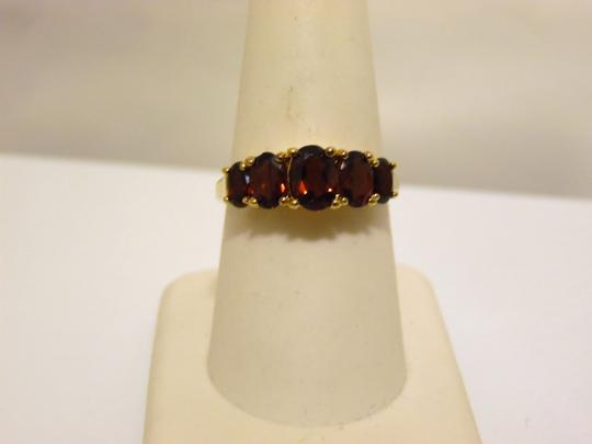 Technibond Technibond 5 Oval Garnet Gemstone Ring size 8