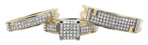Other 10K Yellow Gold Diamond Square Top Trio Set Engagement Ring 0.50 Ct