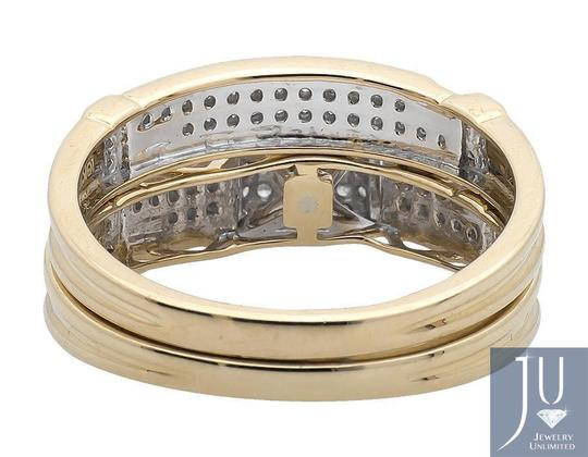 Other 10K Yellow Gold Diamond Square Top Trio Set Engagement Ring 0.50 Ct Image 3