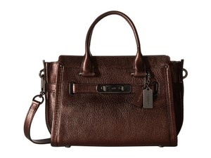 Coach Swagger Carryall 27 Satchel in Bronze