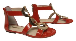 BCBGeneration Gladiators Back Zip New Without Box red Sandals