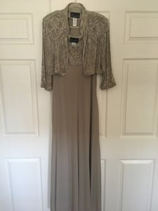 Alex Evenings Taupe Mother Of Bride Dress