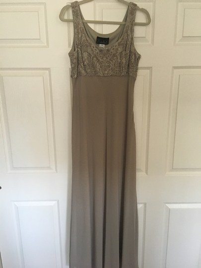 Alex Evenings Taupe Acetate/ Spandex. Chiffon. Mother Of Bride Formal Bridesmaid/Mob Dress Size 14 (L) Image 3