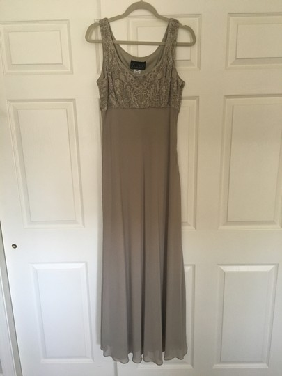 Alex Evenings Taupe Acetate/ Spandex. Chiffon. Mother Of Bride Formal Bridesmaid/Mob Dress Size 14 (L) Image 4
