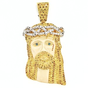 Jacob & Co. JACOB 14K Yellow Gold Diamond Jesus Head Pendant