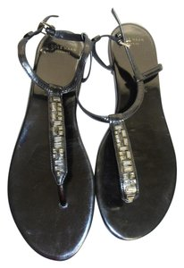 Cole Haan New Without Box T-strap gun metal Sandals