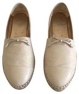 Prada Logo Espadrille Cap-toe Cream (Travertino) Flats