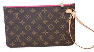 Louis Vuitton Pochette Clutch Ballerine Wristlet in Monogram with PINK interior