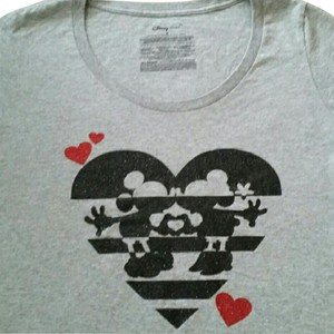 Disney T Shirt Gray, Black and Red