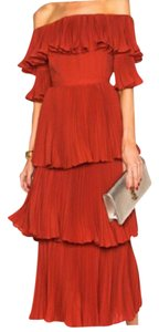 Red Maxi Dress by self-portrait