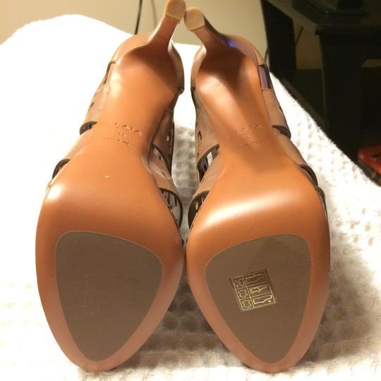 ALAA Leather Embellished Cut-out brown Sandals Image 8