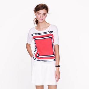 J.Crew Double Square T Shirt white