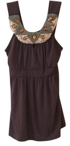 m heart m Mm Beaded Beaded Wrap Top brown