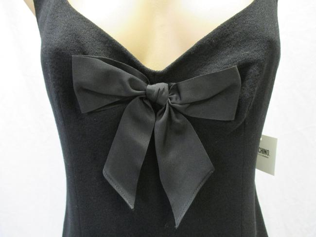 Moschino Virgin Wool Sleeveless Bow Size 44/10 Dress Image 1