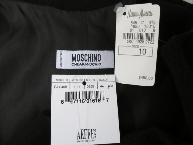 Moschino Virgin Wool Sleeveless Bow Size 44/10 Dress Image 5