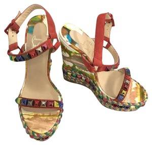 Christian Louboutin Multi Colored Wedges