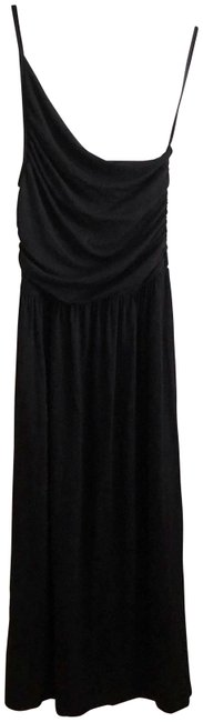 Black Maxi Dress by Tart Spaghetti One Shoulder Soft Stretchy Image 0