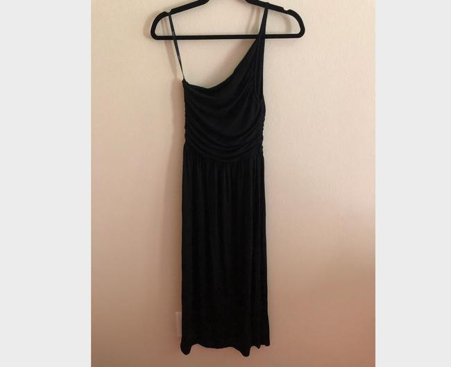Black Maxi Dress by Tart Spaghetti One Shoulder Soft Stretchy Image 2