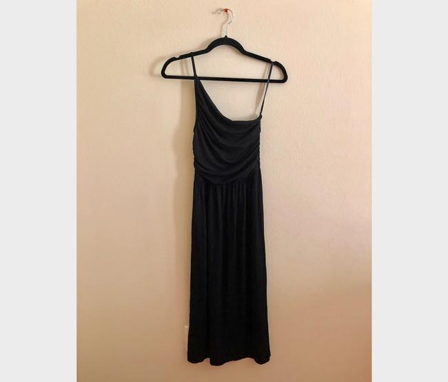 Black Maxi Dress by Tart Spaghetti One Shoulder Soft Stretchy Image 3
