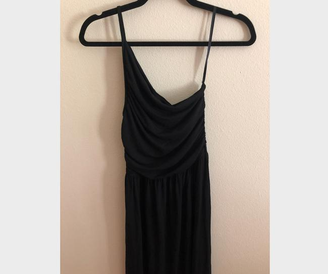 Black Maxi Dress by Tart Spaghetti One Shoulder Soft Stretchy Image 4