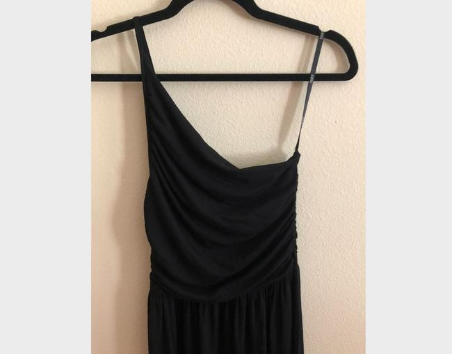 Black Maxi Dress by Tart Spaghetti One Shoulder Soft Stretchy Image 7