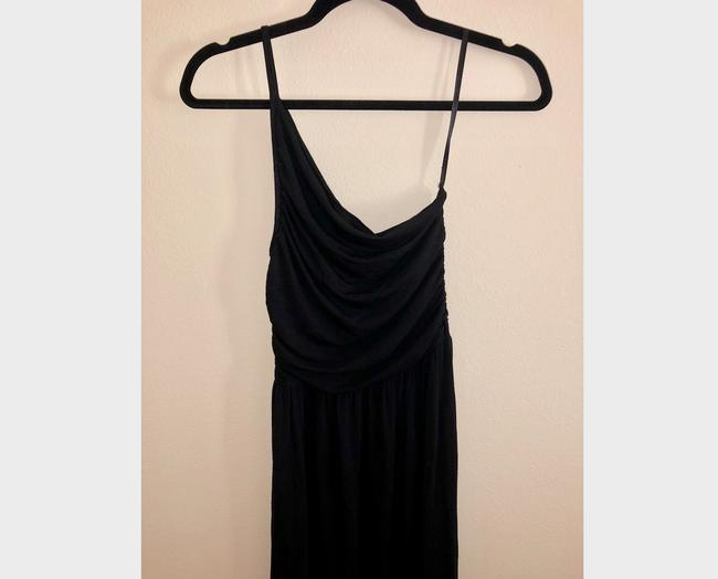 Black Maxi Dress by Tart Spaghetti One Shoulder Soft Stretchy Image 8