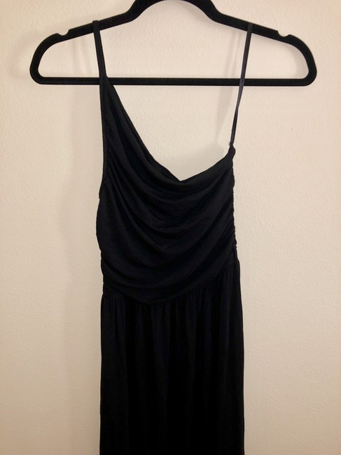 Black Maxi Dress by Tart Spaghetti One Shoulder Soft Stretchy Image 9