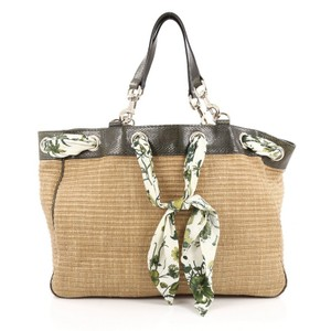 Gucci Snakeskin Tote in Brown and Green