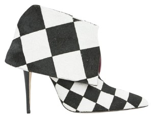 Manolo Blahnik Black and White Boots