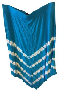 INC International Concepts Studded Skirt Turquoise Blue/ White/Silver