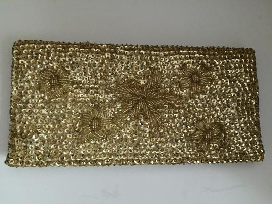Other Beaded Sequin Vintage gold Clutch