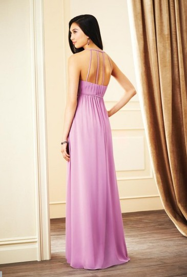 Alfred Angelo Eggplant Chiffon 7270l Modern Bridesmaid/Mob Dress Size 4 (S)